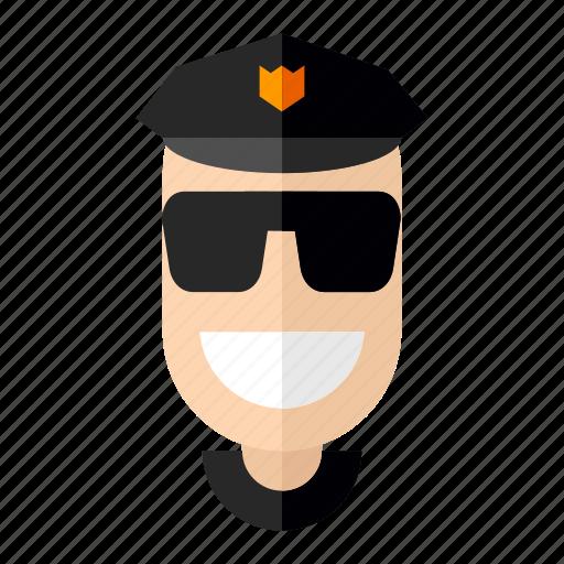 avatar, cops, faces, man, professions, profile, security icon