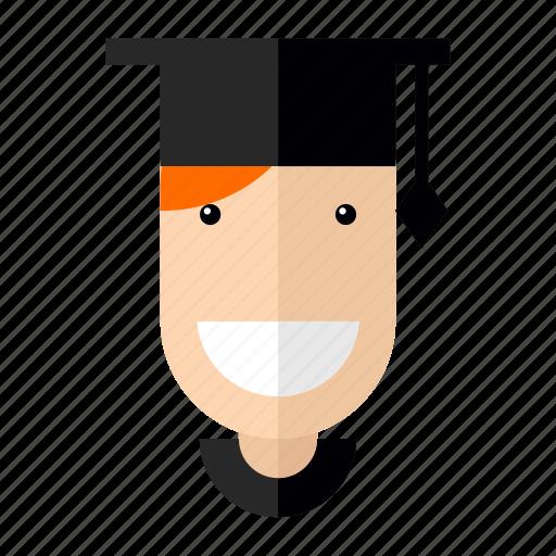 avatar, bachelor, faces, graduate, professions, profile, student icon