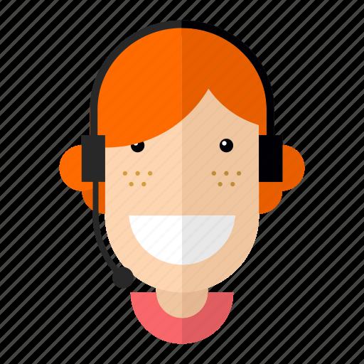 avatar, customer-services, faces, job, professions, profile, woman icon
