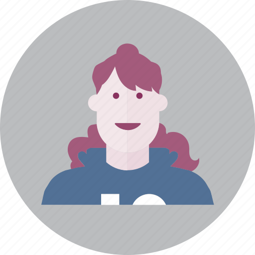 avatar, business, emoji, face, people, smile, woman icon