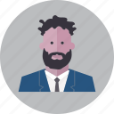avatar, emoji, face, fashion, man, people, smile icon