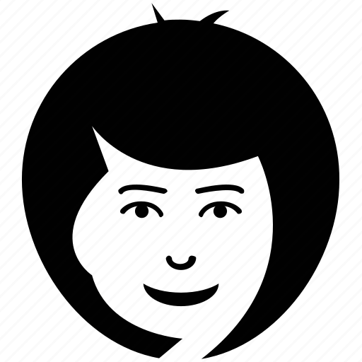 Blunt bob, bob cut, female, lady, lady face, woman icon - Download on Iconfinder