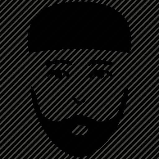 avatar, male silhouette, man beard, muslim man, muslim people icon