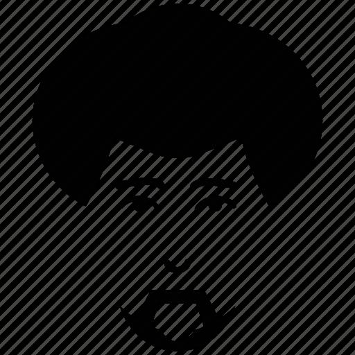 face, hair, head, heavy hair, male, person, profile, user icon
