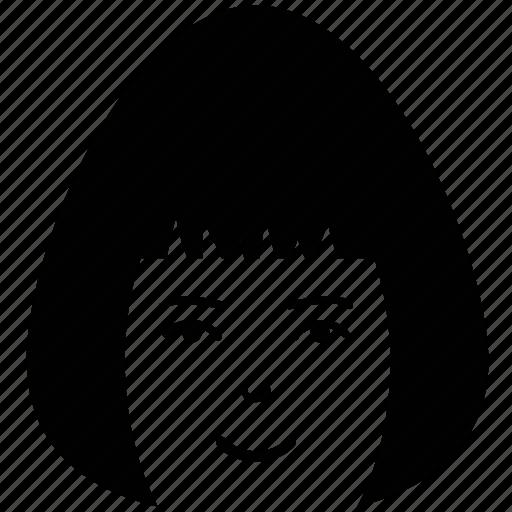 avatar, girl, girl face, profile, teenage, user, woman icon