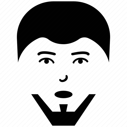 french beard, man, man face, profile, user icon