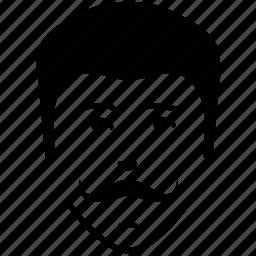 curly moustache, man, moustache on face, user icon