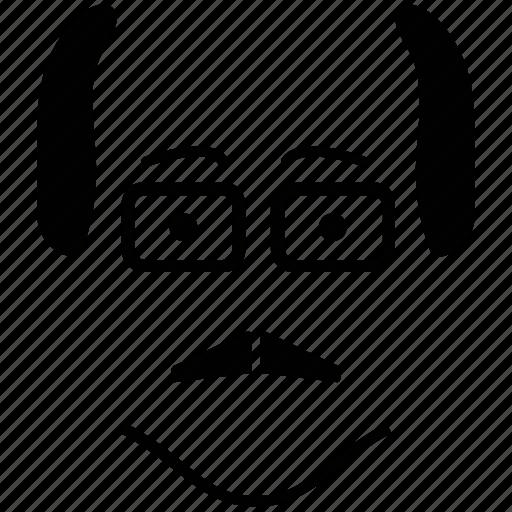 accountant, avatar, businessman, face, profile image, senior citizen, user, worker icon