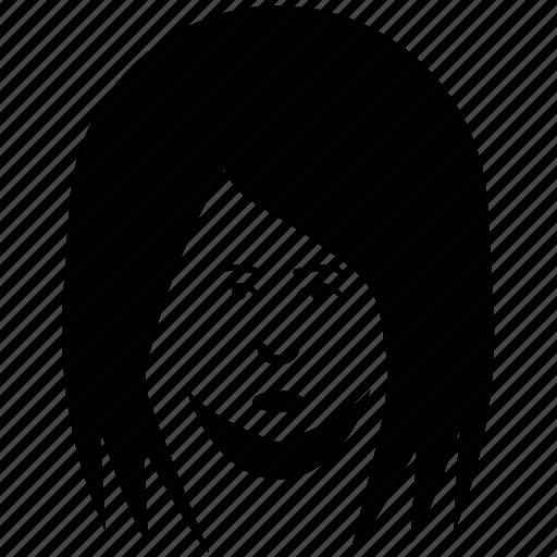 avatar, boy, face, man long hair, young boy, young man face icon