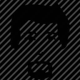 avatar, french beard, gentleman, man face, profile, user icon