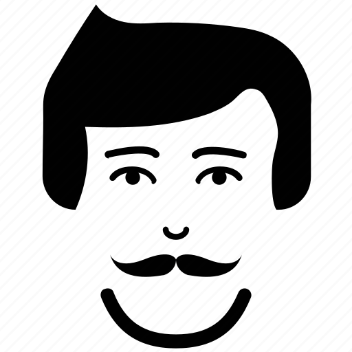 Client, face, gentleman, image, moustache on face, user icon - Download on Iconfinder