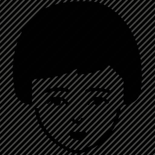 avatar, female, feminine, lady, short hair, user avatar icon