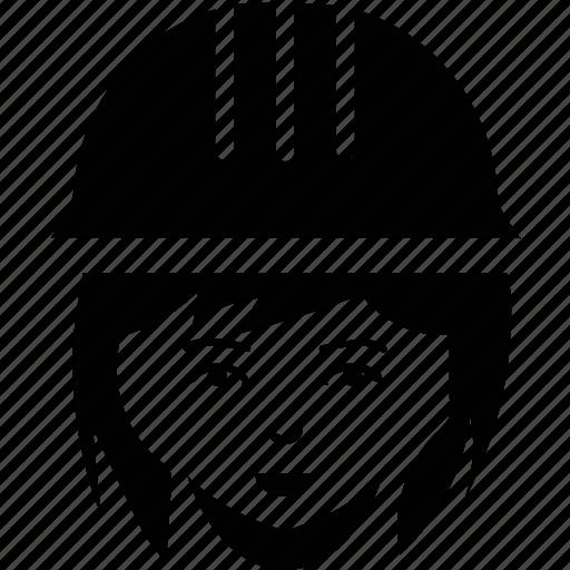 female, feminine, girl, girl face, girl with hat icon