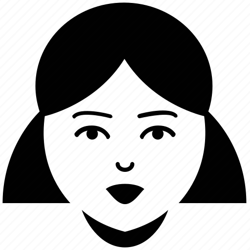 face, female, girl, hair, teen, woman icon