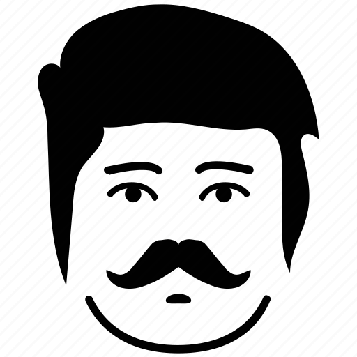 avatar, big moustache, face, male, man, man face icon