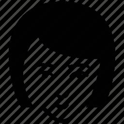 avatar, blunt bob, female, girl, lady, lady face, woman icon