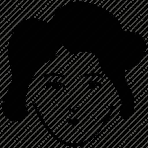 avatar, bouffant, lady, lady bouffant, profile, user, woman icon