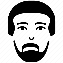 avatar, face, face with beard, male, man, portrait face, user icon