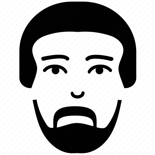Avatar, face, face with beard, male, man, portrait face, user icon - Download on Iconfinder