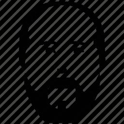 avatar, beard, man, old man, old man moustache, profile icon
