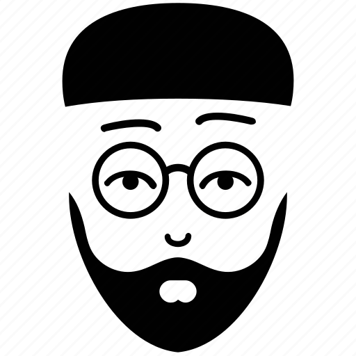 client face, face, glasses and beard, male, man, user icon
