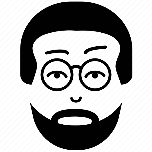 avatar, beard on face, man, picture, profile, user icon