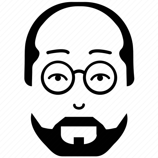 avatar, beard, man, old man, old man moustache, profile icon