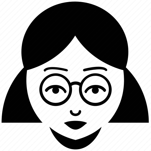 avatar, female, female with glasses, teacher, teacher face, woman icon