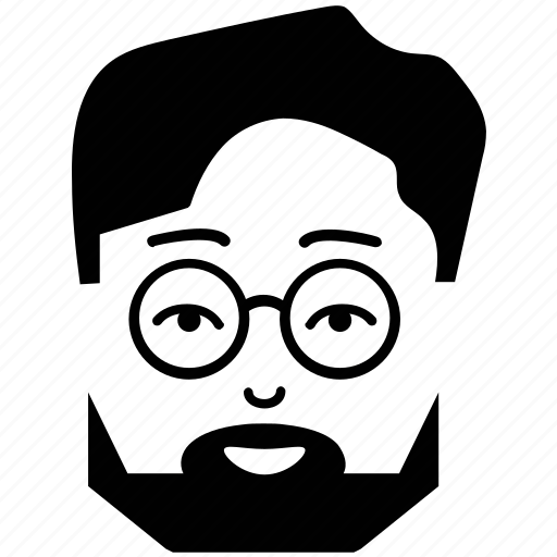 avatar, beard, client, face, man, man with glasses, user icon
