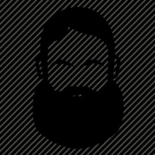 beard, biker, burly, facial hair icon