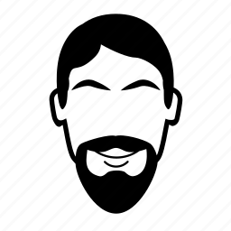 beard, facial hair, goatee, vandyke icon