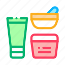 bowl, container, cosmetic, tube icon
