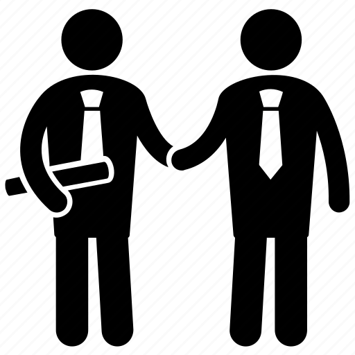 business contract, business deal, industrialist deal, shaking hand, trade agreement icon