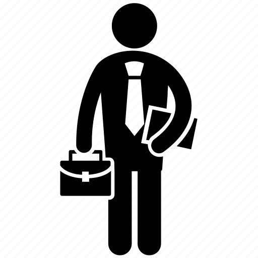 business person, capitalist, entrepreneur, factory worker, financer icon