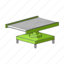 conveyor, equipment, factory, industry, manufacturing, plant, stand icon