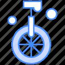 circus, cycle, unicycle, wheel icon