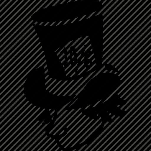 Gentleman Top Hat Hatter Alice Mad Wonderland Man Icon