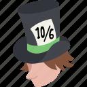 alice, gentleman, hatter, mad, man, top hat, wonderland icon