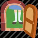 alice, door, giant, girl, story, tiny, wonderland icon