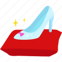 fashion, high heel, cinderella, slipper, shoe, princess