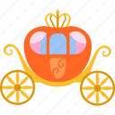 carriage, cinderella, dream, fairytale, fantasy, pumpkin, pumpkin carriage icon
