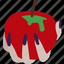 apple, fairytale, poison, poison apple, snow white, temptation, witch icon
