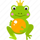 fairy, folktale, frog, grimm, prince, story, tale icon