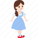 child, cute, daughter, dorothy, girl, oz, wizard icon