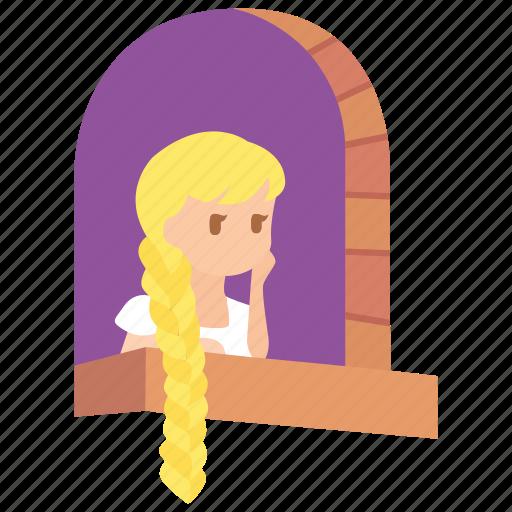 Disney, fairy, fairytale, grimm, princess, rapunzel, tale icon - Download on Iconfinder
