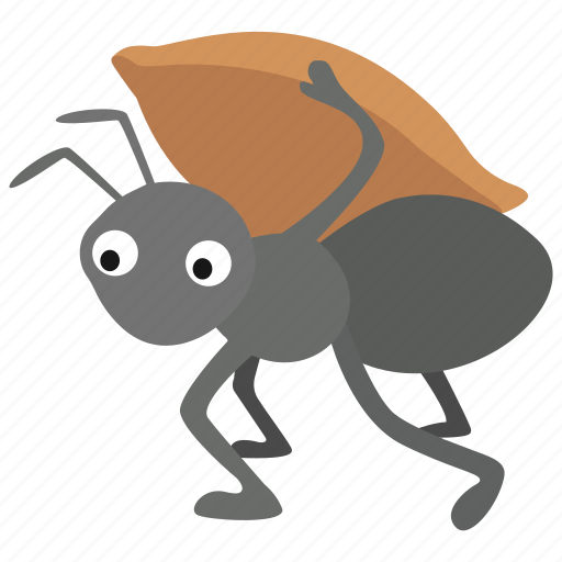 Aesop, ant, carrying, fable, foraging, worker, working icon - Download on Iconfinder