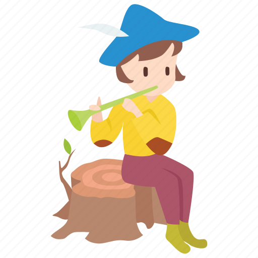 Boy, fable, grimm, musician, pied piper, pipe, rat-catcher icon - Download on Iconfinder