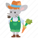 fairy tale, country, fable, mouse, farmer
