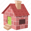 three little pigs, brick, cottage, home, house, small