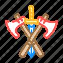 sword, ax, weapon, fairy, tale, story